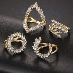 Stylish 4 PCS Ring Set - Freedom Look