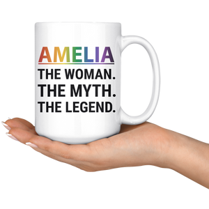 Personalized Lesbian Pride Coffee Mug (15 oz)