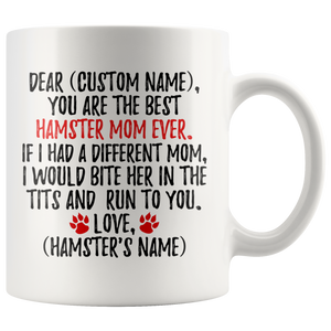 Personalized Best Hamster Mom Coffee Mug (11 oz)