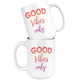 Good Vibes Only Motivational Coffee Mug (15 oz) - Freedom Look