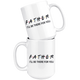 Father Friends Coffee Mug (15 oz) - Freedom Look