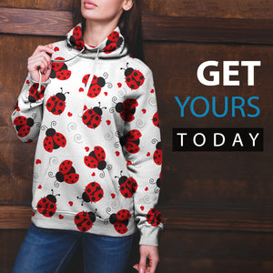 Ladybug Love All Over Hoodie