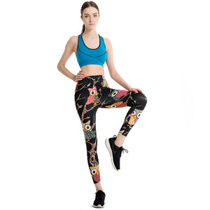 Black & Colorful Owl Leggins for Summer 2017 - Freedom Look