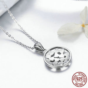 Love Heart Shape Pendant Necklace - 925 Sterling Silver - Freedom Look