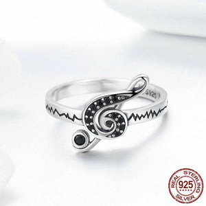 Music Lovers Ring - 925 Sterling Silver - Freedom Look