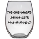 The One Where Jayna Gets Married Stemless Wine Glass (Laser Etched)