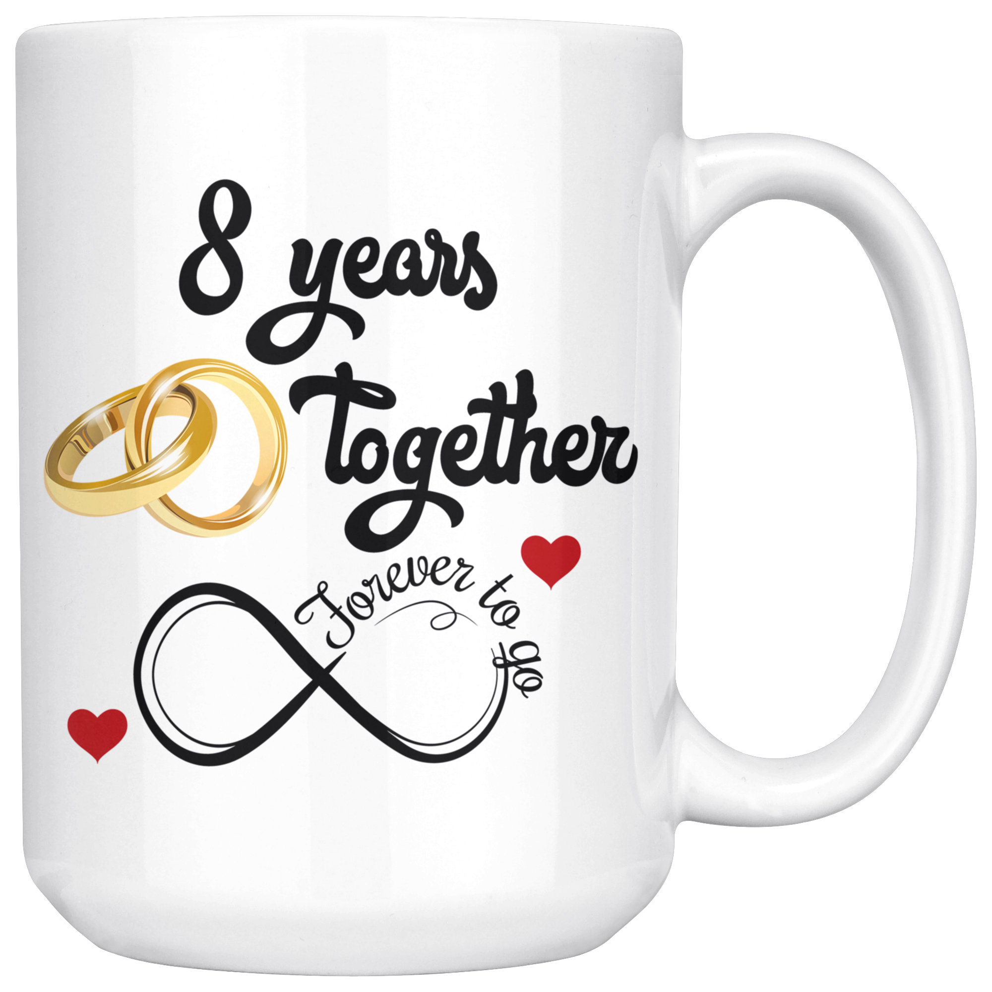 10th Wedding Anniversary Gift For Him And Her, 10th Anniversary Mug