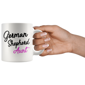 German Shepherd Aunt Coffee Mug (11 oz) - Freedom Look
