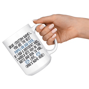 Personalized Best Papillon Dad Coffee Mug (15 oz)