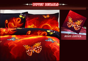 3D Butterfly Bedding Cover Sets Queen/King/Twin Size - Freedom Look