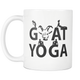 Goat Yoga Coffee Mug - I Like & Love Goats - Mugs-yoga Pose Mug - I Love Yoga Mug - Great Gift For Goat Yoga Lovers (11 oz) - Freedom Look