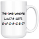 The One Where Linda Gets Engaged Coffee Mug (15 oz)
