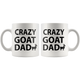 Crazy Goat Dad Coffee Mug (11 oz) - Freedom Look