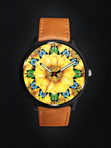 Sunflower Butterfly Awesome Watch
