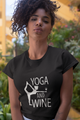 Yoga And Wine Spiritual Meditation Unisex T-Shirt