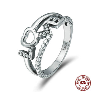 True Love Letter Ring - 925 Sterling Silver - Freedom Look