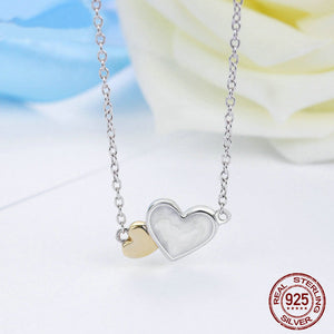 Two Hearts Pendant Necklace - 925 Sterling Silver - Freedom Look