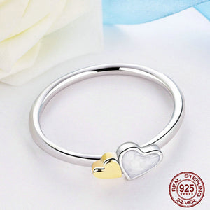 Two Hearts Ring - 925 Sterling Silver - Freedom Look