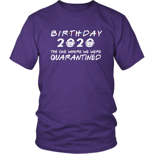 Survived Birthday 2020 In Quarantine With Mask Present Gift Unisex & Women T-Shirt