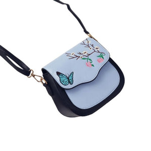 NEW! Leather Butterfly Flower & Butterfly Bag - Freedom Look