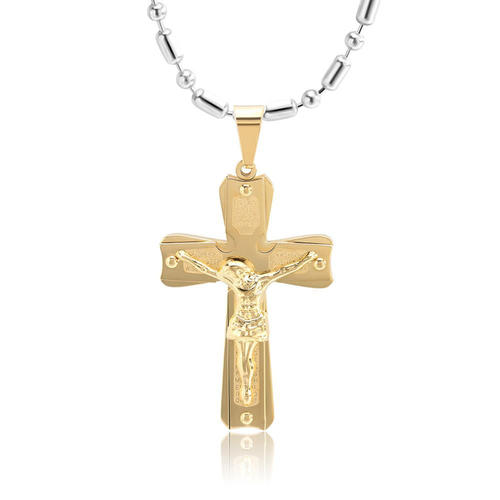 Gold and silver jesus necklace freedom look gold and silver jesus necklace freedom look aloadofball Image collections