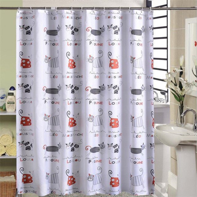 Funny Cat Waterproof Shower Curtain - Trend 2017   Freedom Look