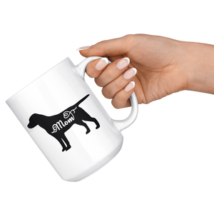 Black Labrador Mom Coffee Mug (15 oz) - Freedom Look