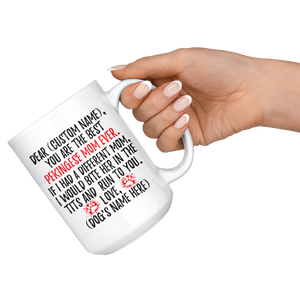 Personalized Best Pekingese Mom Coffee Mug (15 oz)