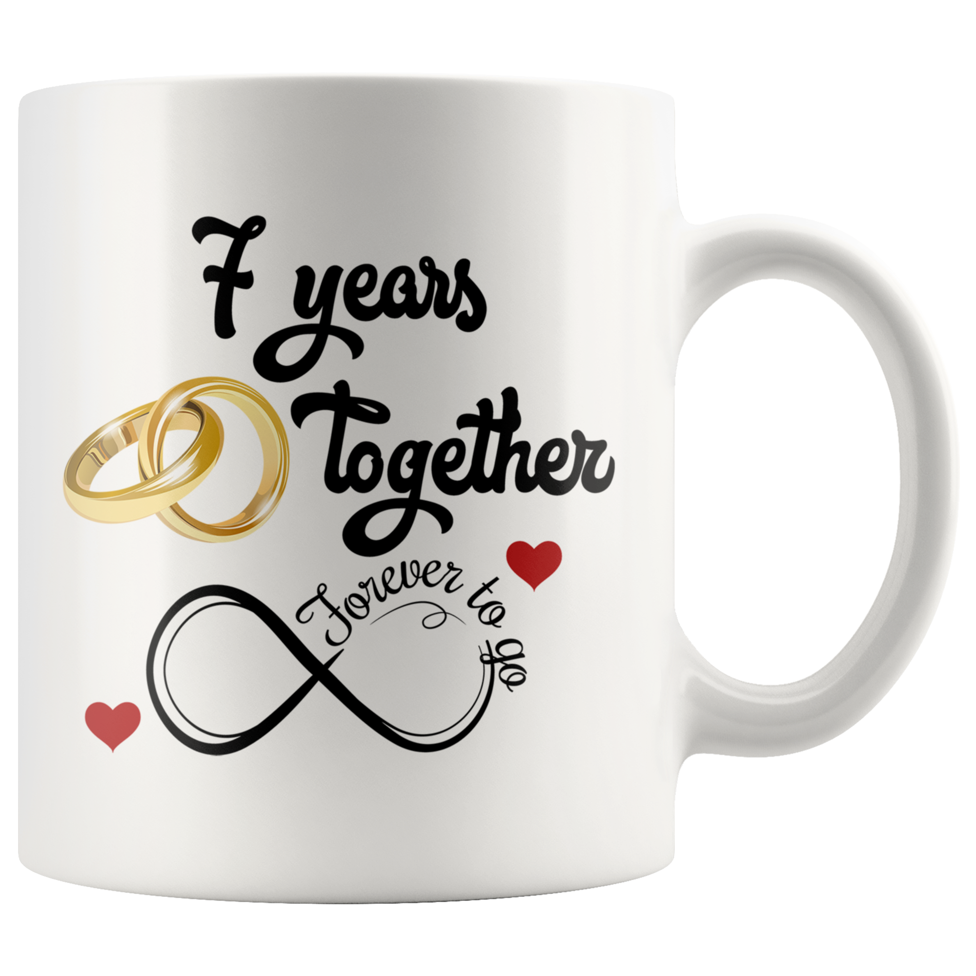 7th Wedding Anniversary.7th Wedding Anniversary Gift For Him And Her 7th Anniversary Mug For Husband Wife 7 Years Together Married 7 Years 7 Years With Her 11 Oz