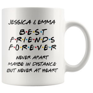 Best Long Distance Friends Forever Coffee Mug (11 oz) - Freedom Look