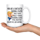 Funny Baseball Player Trump Coffee Mug (15 oz)