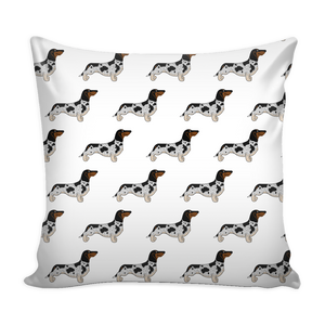 Piebald Dachshund Pillow Cover With Insert - Freedom Look