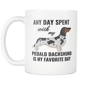 Piebald Dachshund Gifts Mug - Piebald Dachshund Ornament - Wiener Dog Dad Mom Mug - Great Gift For Daschund Owner - Freedom Look