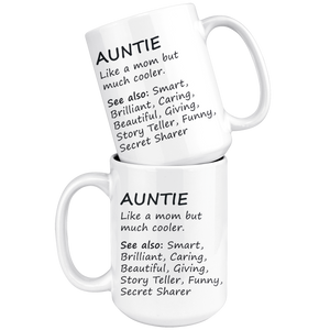 Auntie Definition Coffee Mug (15 oz) - Freedom Look