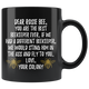 Rosie Bee Beekeeper Black Coffee Mug (11 oz)