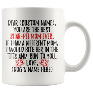 Personalized Best Shar-Pei Mom Coffee Mug (11 oz)