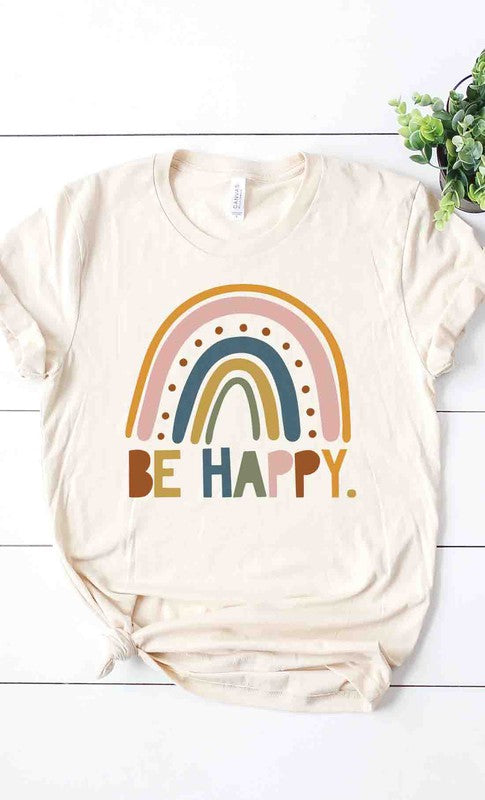 BE HAPPY TEE - Penny Lane Boutique