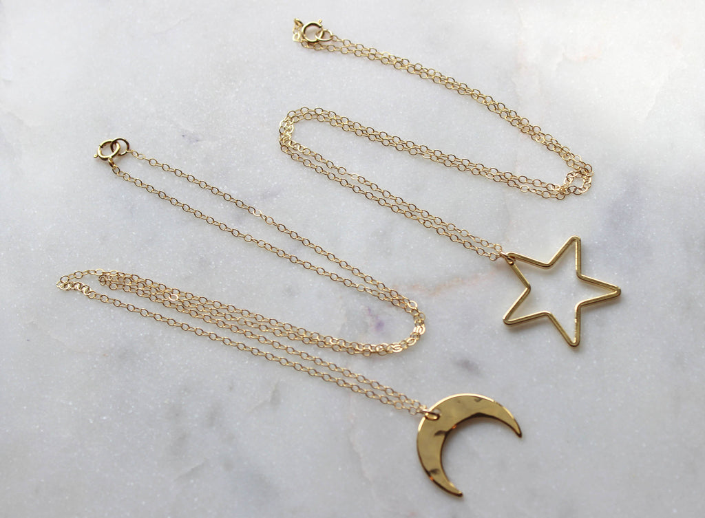 MOON AND STAR NECKLACE - Penny Lane Boutique