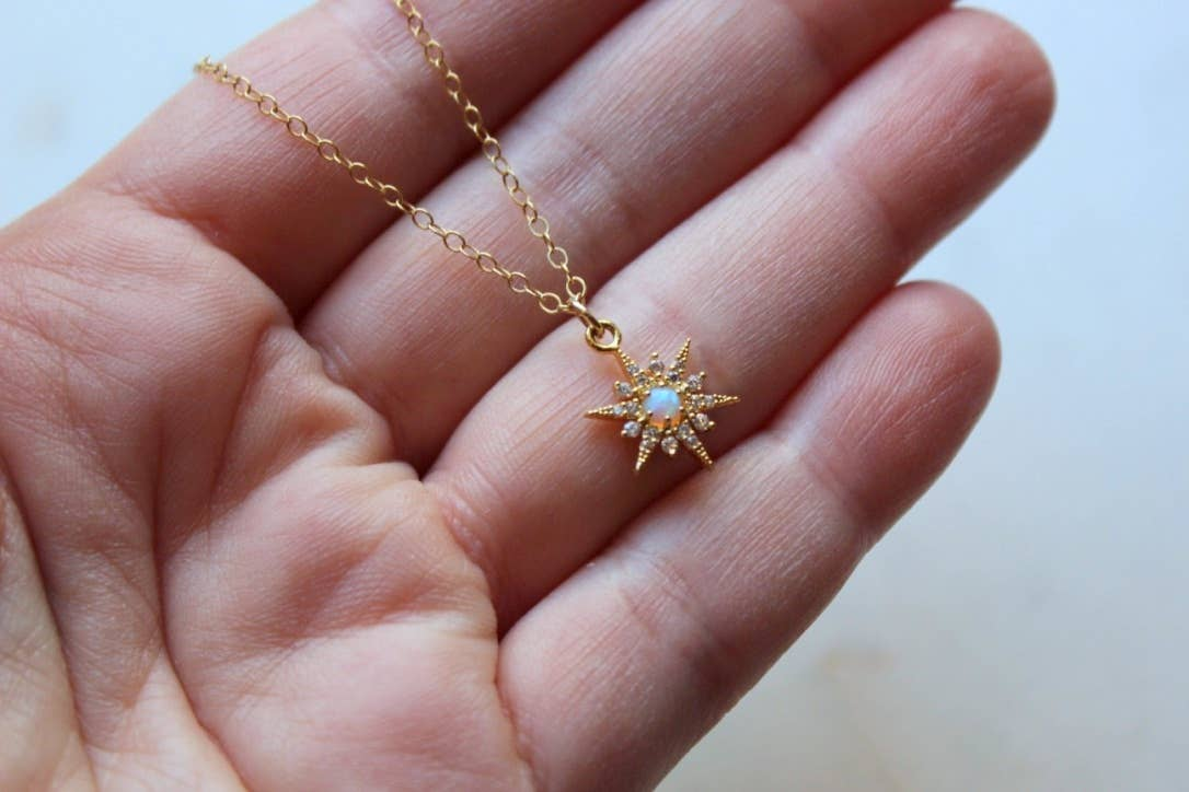 STAR OPAL NECKLACE - Penny Lane Boutique