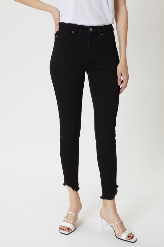 BLACK HIGH RISE SKINNY - Penny Lane Boutique
