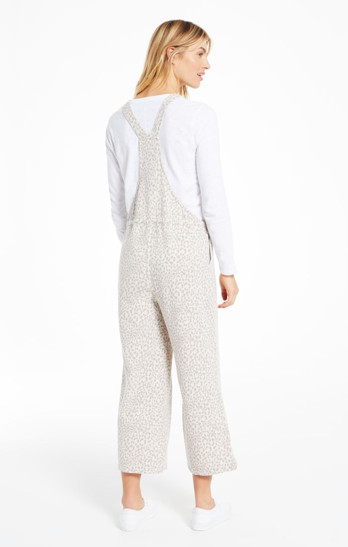 TONAL LEO OVERALLS - Penny Lane Boutique