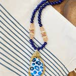 PRINTED OYSTER SHELL NECKLACE - Penny Lane Boutique