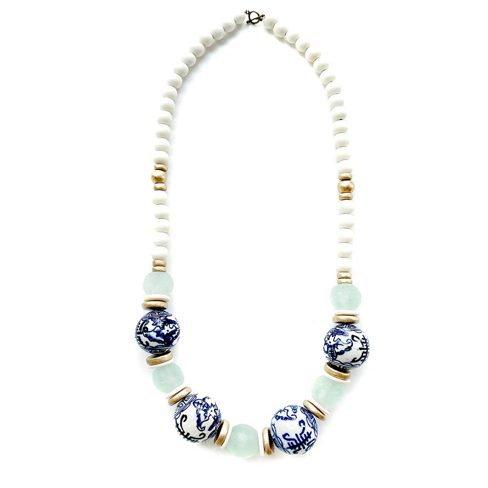 CHINOISERIE BIB NECKLACE - Penny Lane Boutique