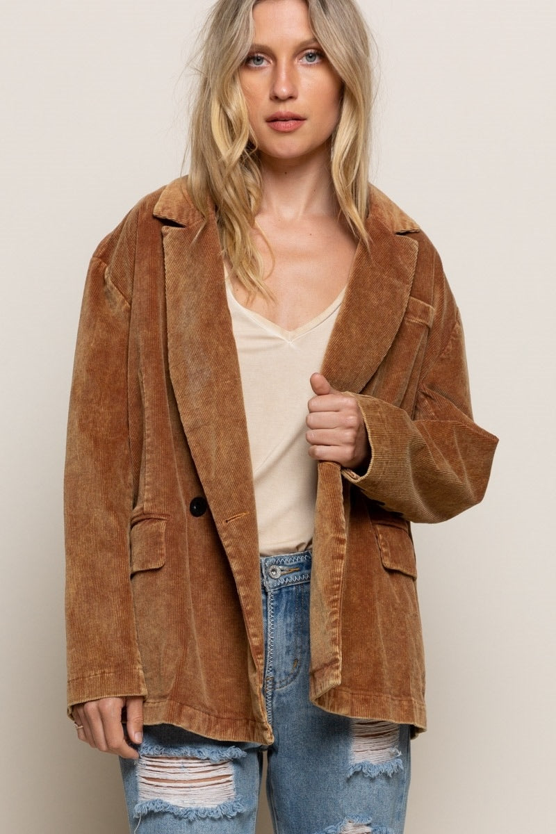 CASUAL NOT CORDUROY BLAZER - Penny Lane Boutique