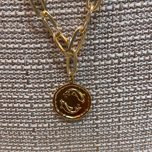 COIN ZODIAC NECKLACE - Penny Lane Boutique