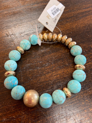 GOLD AND BEAD BRACELET - Penny Lane Boutique