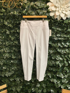 OPTIC WHITE ANKLE PANT - Penny Lane Boutique