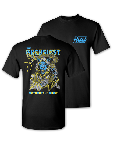 Search engine listing preview Edit website SEO The Greasiest Motorcycle Show t-shirt - 2019 | Bad Grease Inc