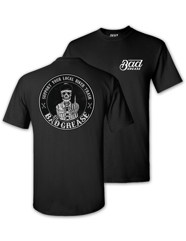 BG Support t-shirt - BLACK | Bad Grease Inc