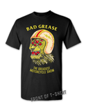 The Greasiest Motorcycle Show t-shirt - BLACK FRONT| Bad Grease Inc